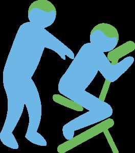 Stoelmassage afbeelding